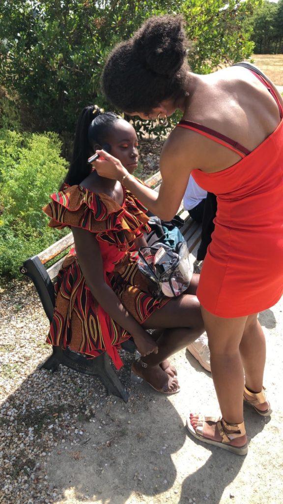 Préparation des modèles makeup & hairstyle meliwa artist nantes 44000