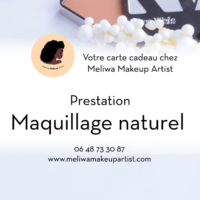 Carte cadeau pour maquillage naturel