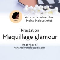 Carte cadeau pour maquillage glamour