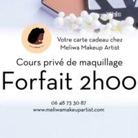 Cours privé de maquillage forfait 2h00