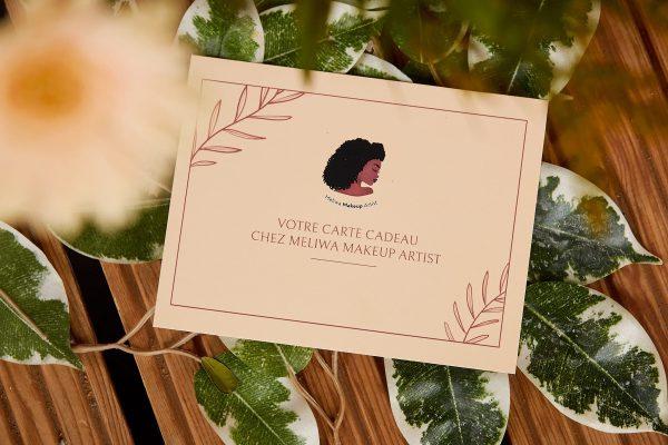 carte cadeau - nantes - cadeau- cours de maquillage - femme - personnalisé